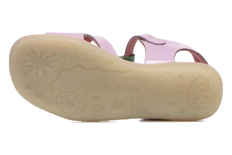 Sandales et nu-pieds Agatha Ruiz de la Prada Cereza Violet vue haut
