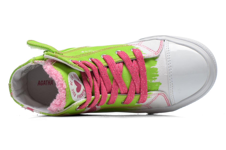 Sneaker Agatha Ruiz de la Prada Delfina grün ansicht von links