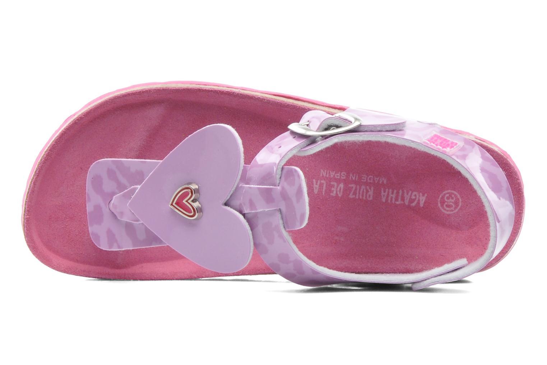 Sandales et nu-pieds Agatha Ruiz de la Prada Dilcia Violet vue gauche