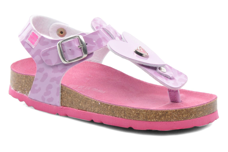 Sandals Agatha Ruiz de la Prada Dilcia Purple detailed view/ Pair view
