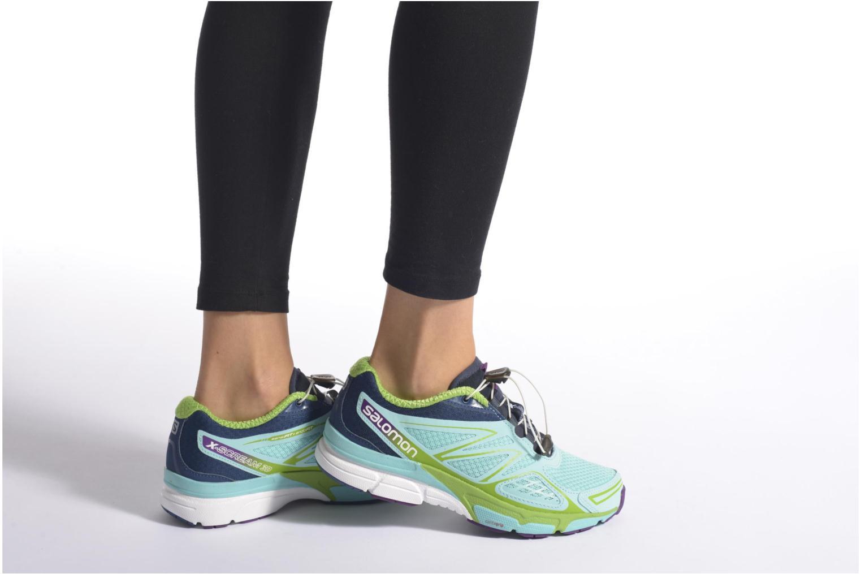 Chaussures de sport Salomon X-Scream 3D W Bleu vue bas / vue portée sac