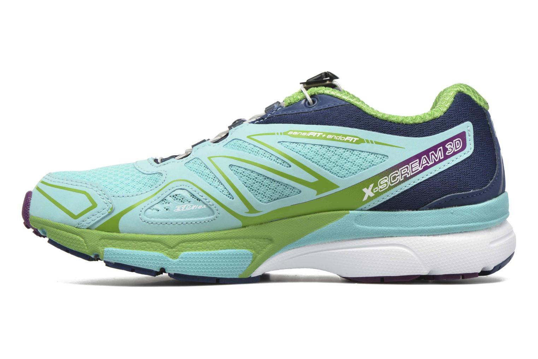 Chaussures de sport Salomon X-Scream 3D W Bleu vue face