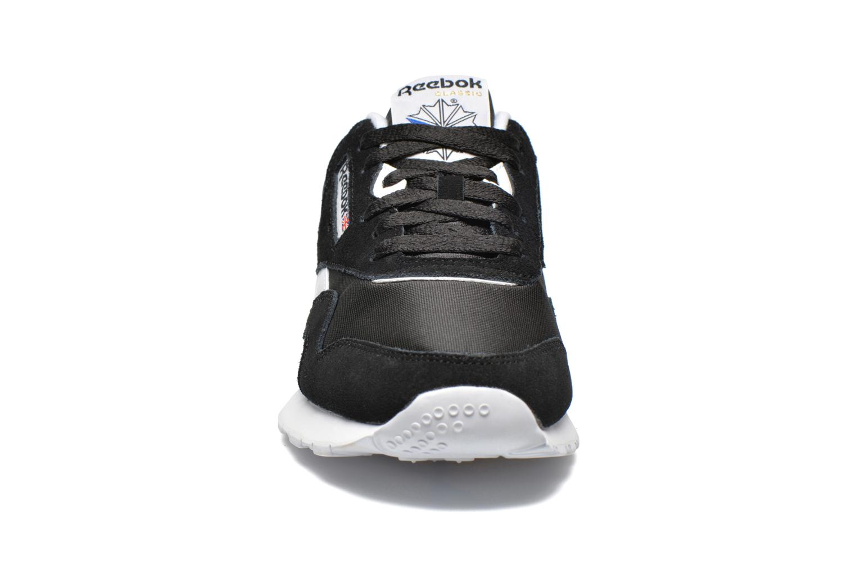 Sneaker Reebok Classic Nylon schwarz schuhe getragen
