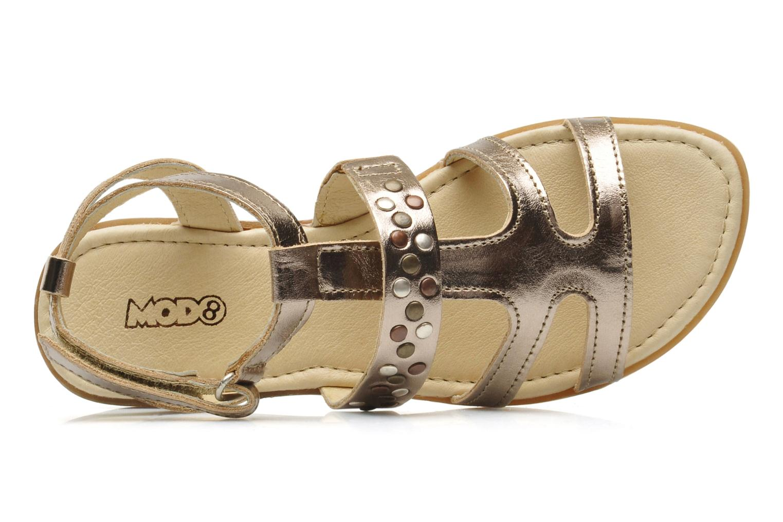 Sandalias Mod8 JADE Plateado vista lateral izquierda