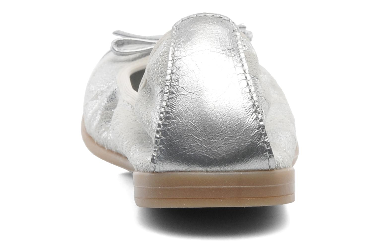Ballet pumps Bopy SARABEL Silver view from the right