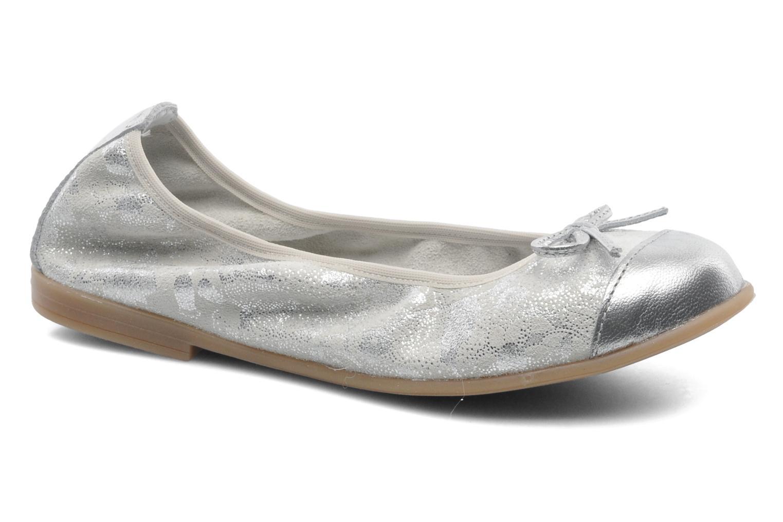 Ballerinaer Bopy SARABEL Sølv detaljeret billede af skoene