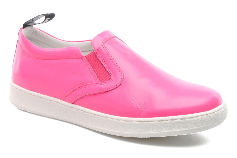 Sneakers Love Moschino Love Tasha Pink detaljeret billede af skoene