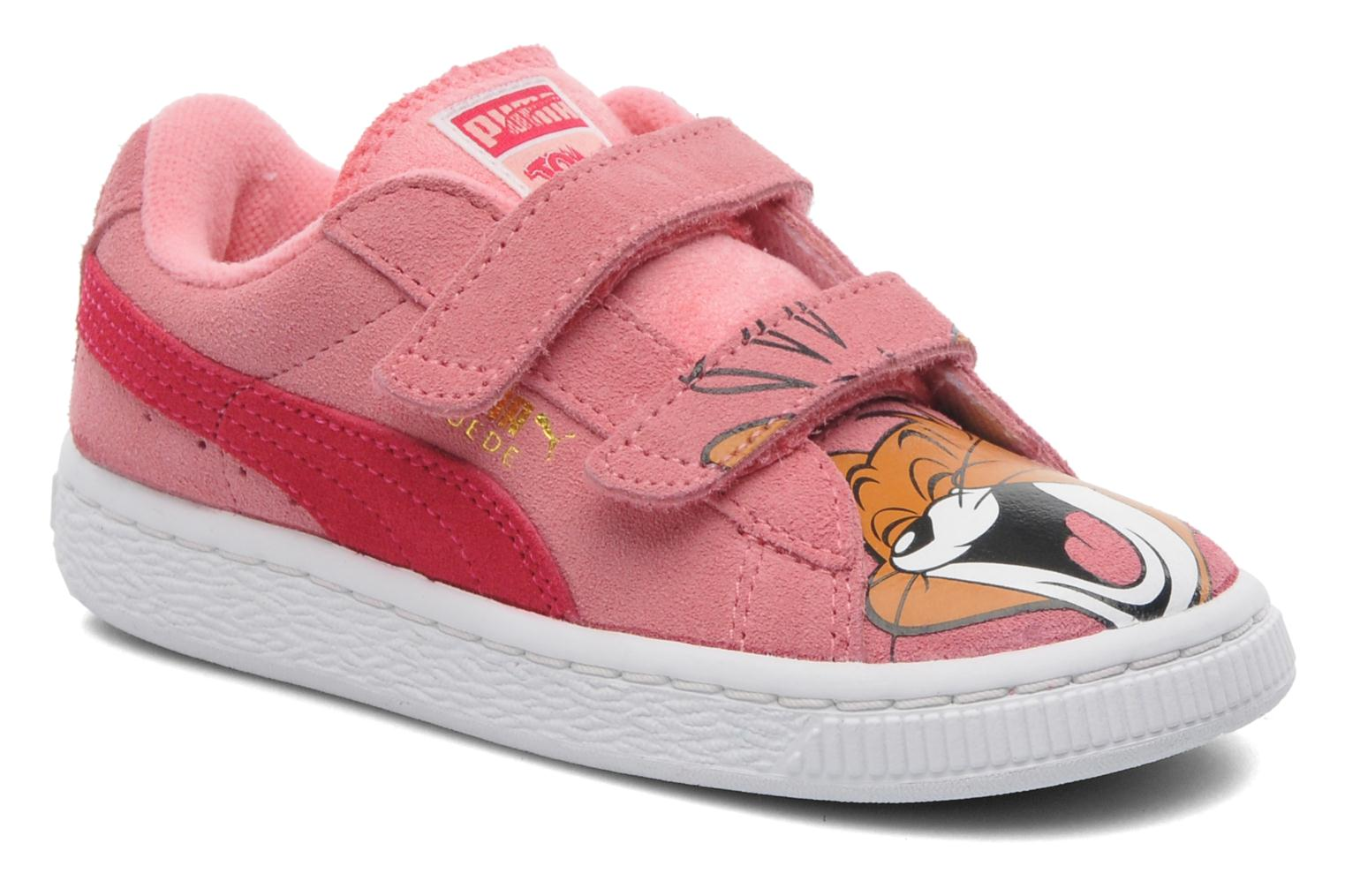 puma suede t j jerry v kids rose baskets chez sarenza 211519. Black Bedroom Furniture Sets. Home Design Ideas