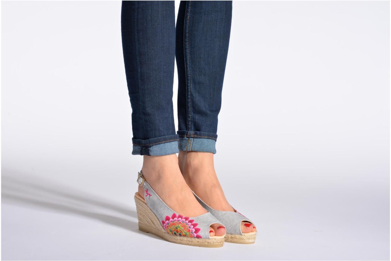 Sandali e scarpe aperte Desigual Lila Multicolore immagine dal basso