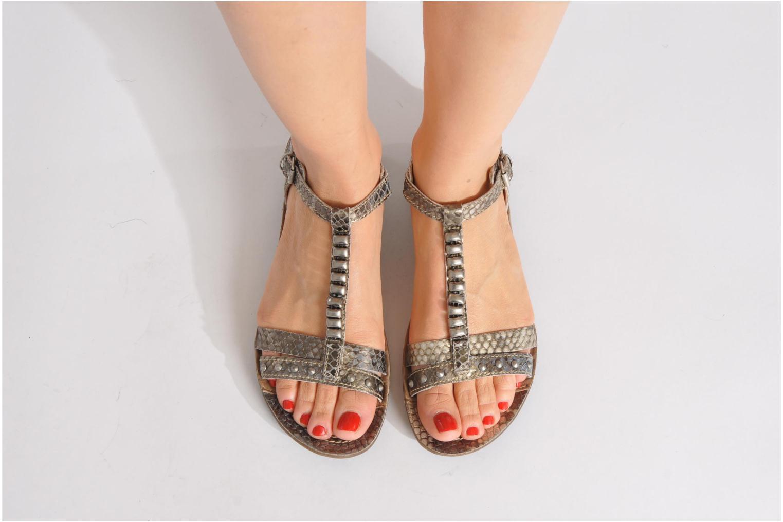Sandales et nu-pieds Khrio Amy Noir vue bas / vue portée sac