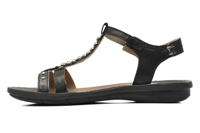 Sandales et nu-pieds Khrio Amy Noir vue face