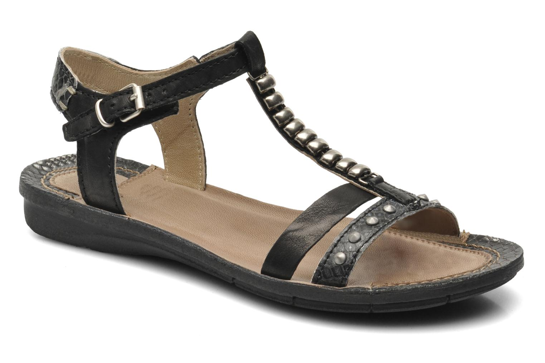 Sandales et nu-pieds Khrio Amy Noir vue détail/paire