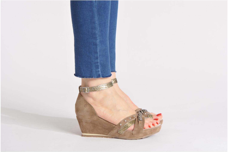 Sandales et nu-pieds Khrio Lou N Marron vue bas / vue portée sac