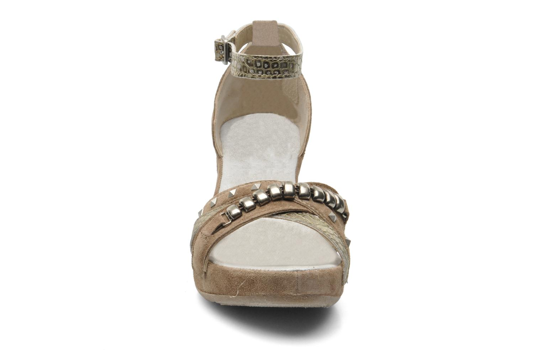Sandales et nu-pieds Khrio Lou N Marron vue portées chaussures