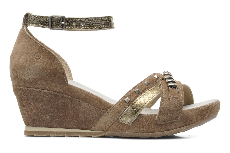 Sandales et nu-pieds Khrio Lou N Marron vue derrière