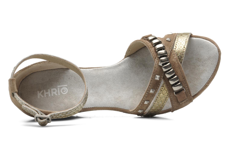 Sandales et nu-pieds Khrio Lou N Marron vue gauche