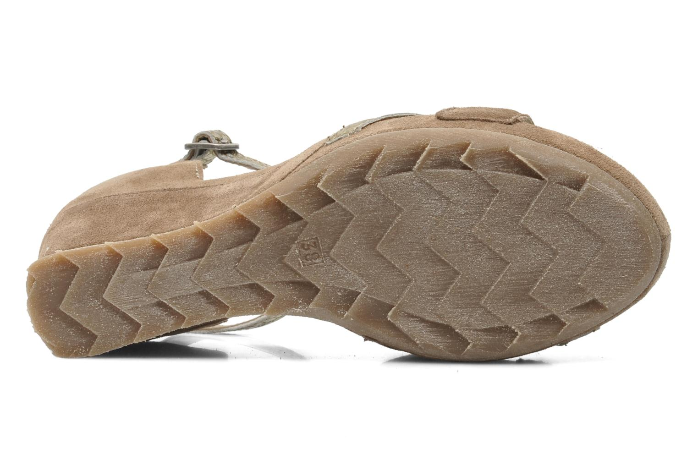 Sandales et nu-pieds Khrio Lou N Marron vue haut
