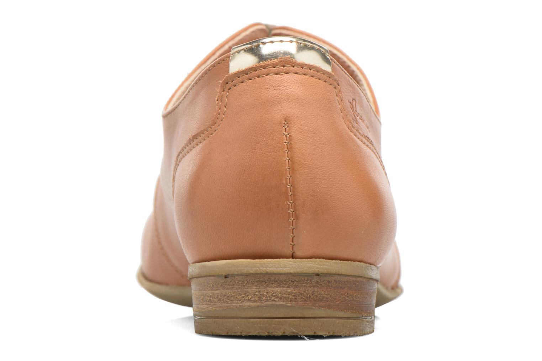 Zapatos con cordones Dorking Candy 5058 Marrón vista lateral derecha
