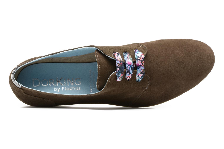 Chaussures à lacets Dorking Candy 5058 Vert vue gauche