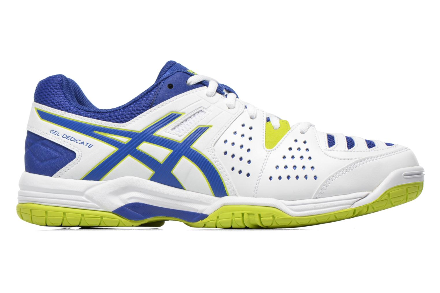 Gel-Dedicate 4 White/Asics Blue/Lime