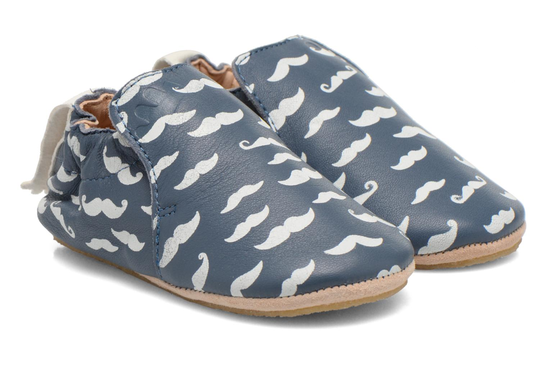Chaussons Easy Peasy Blublu Moustaches Bleu vue portées chaussures