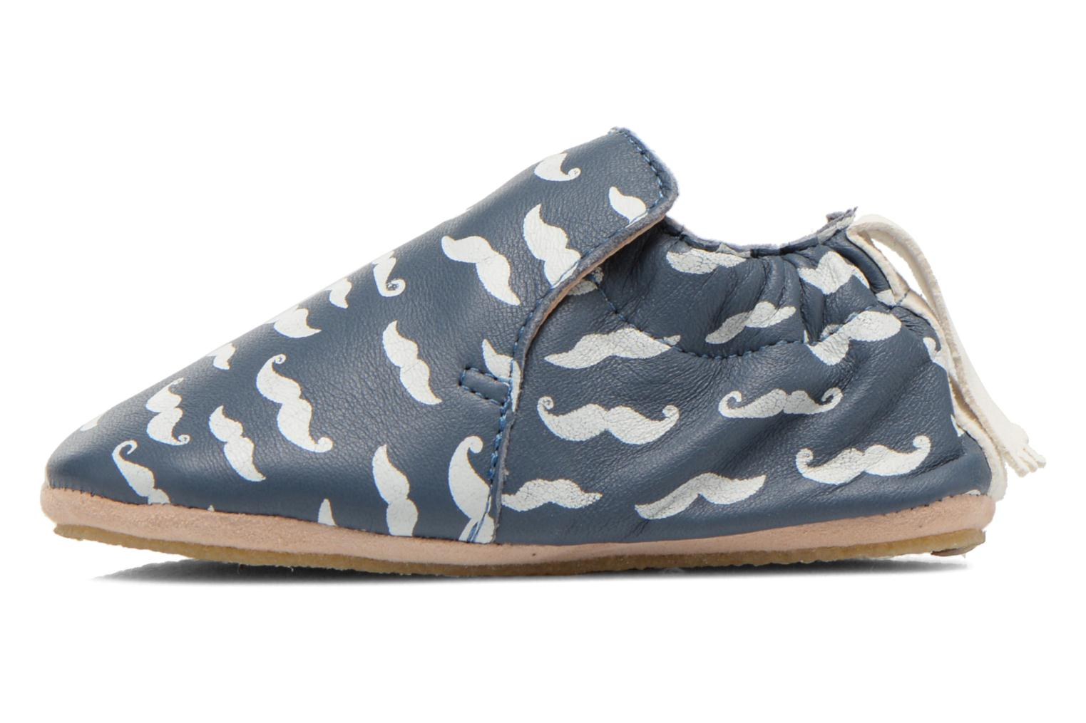 Blublu Moustaches Denim/Blanc