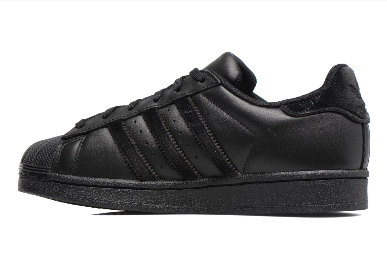 Baskets Adidas Originals SUPERSTAR J Noir vue face