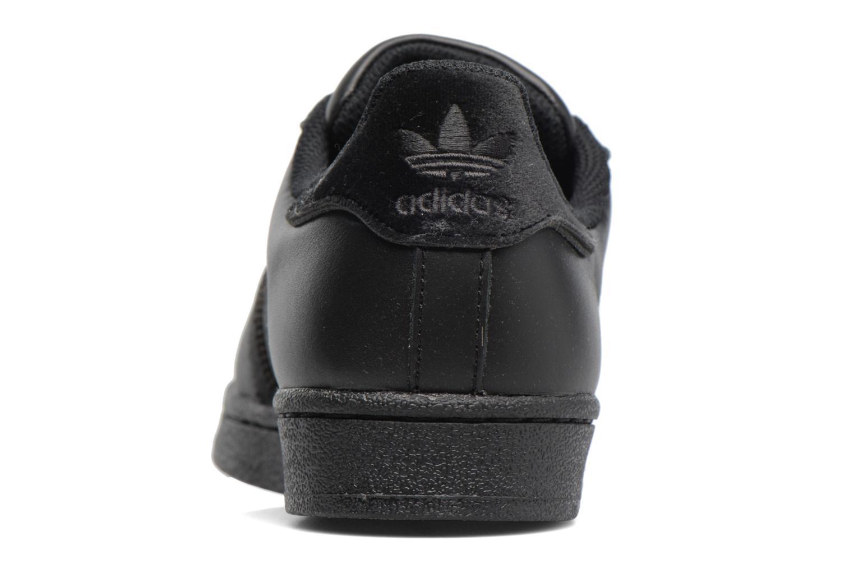 Baskets Adidas Originals SUPERSTAR J Noir vue droite