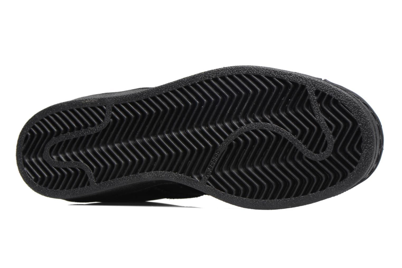 Baskets Adidas Originals SUPERSTAR J Noir vue haut