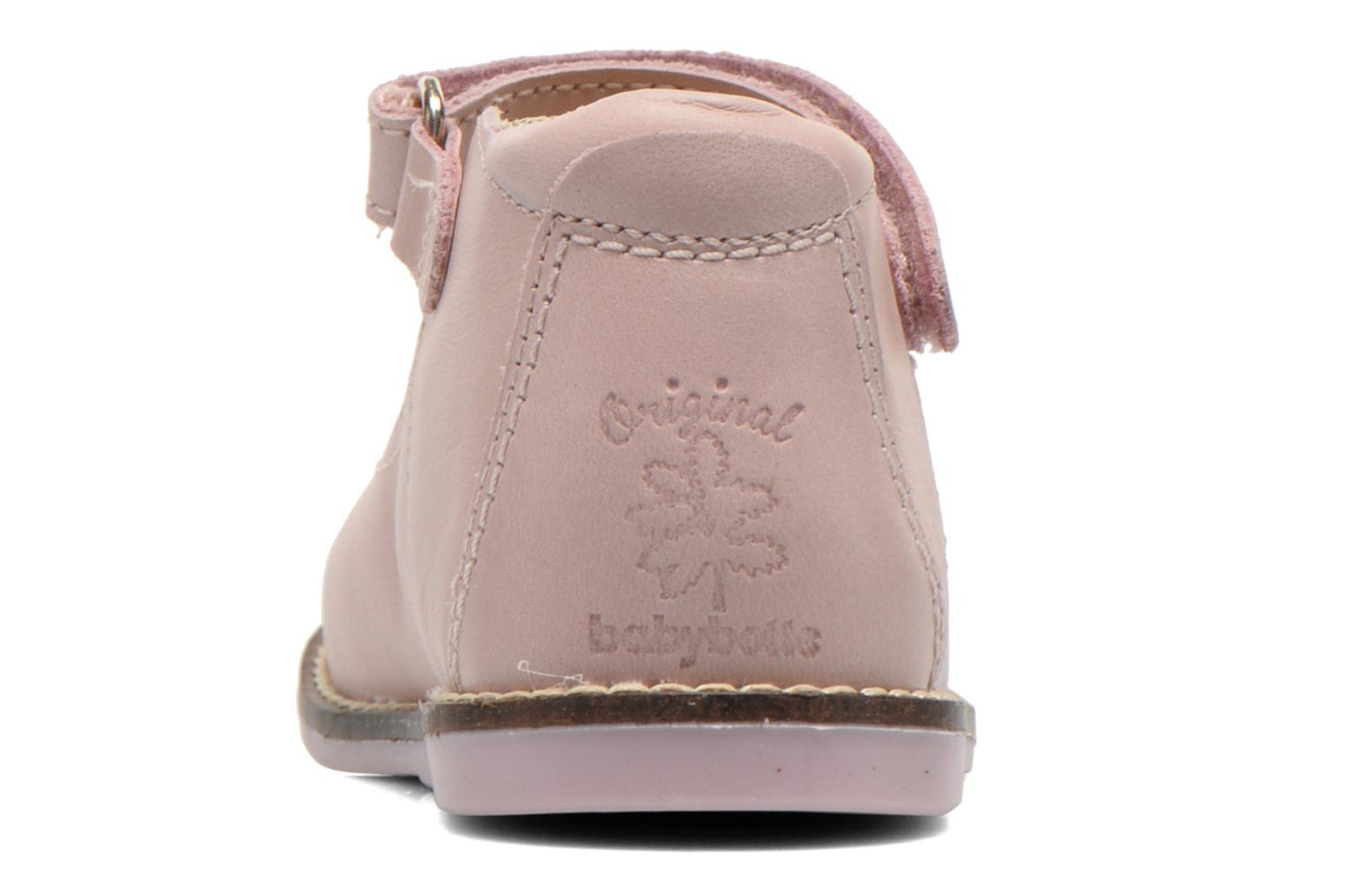 Ballet pumps Babybotte Servane Pink view from the right