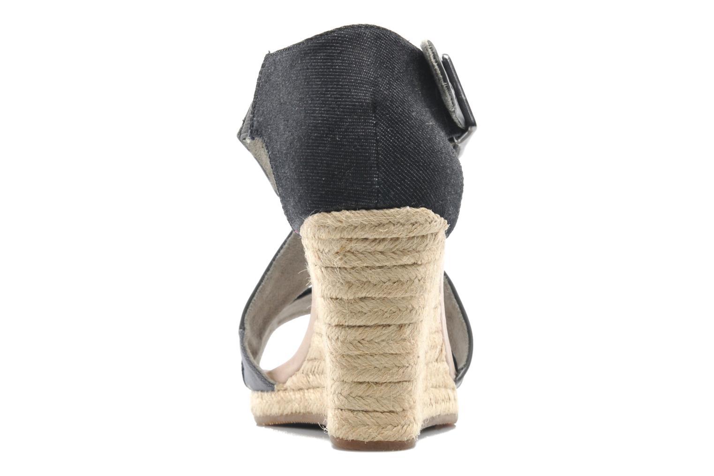 Aria Wedge Salon Strap Dk Grey Lthr & Textile w/Black