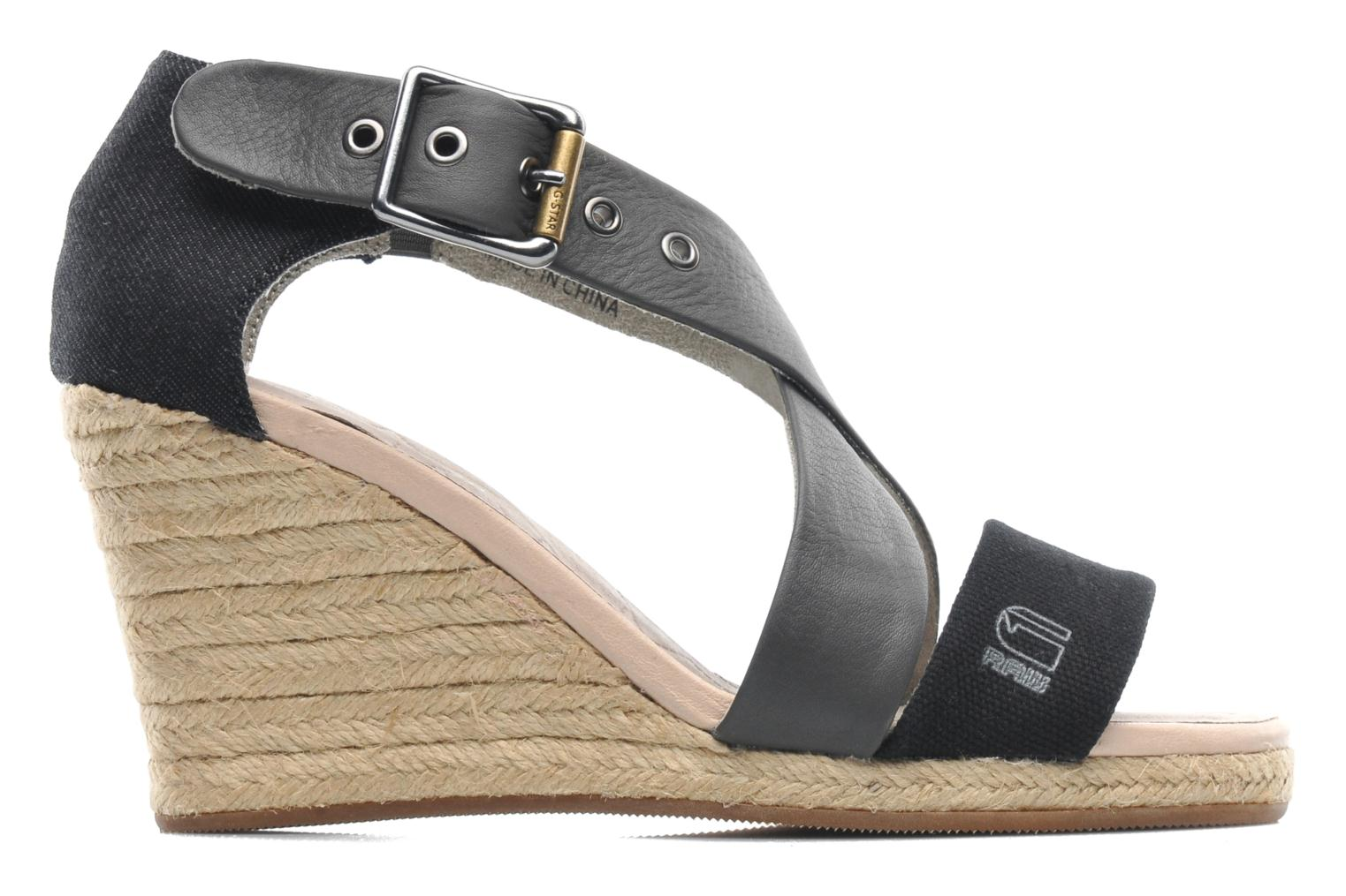 Aria Wedge Salon Strap Dk Grey Lthr & Textile w/Black