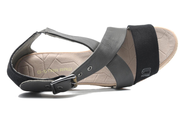 Sandalen G-Star Aria Wedge Salon Strap grau ansicht von links