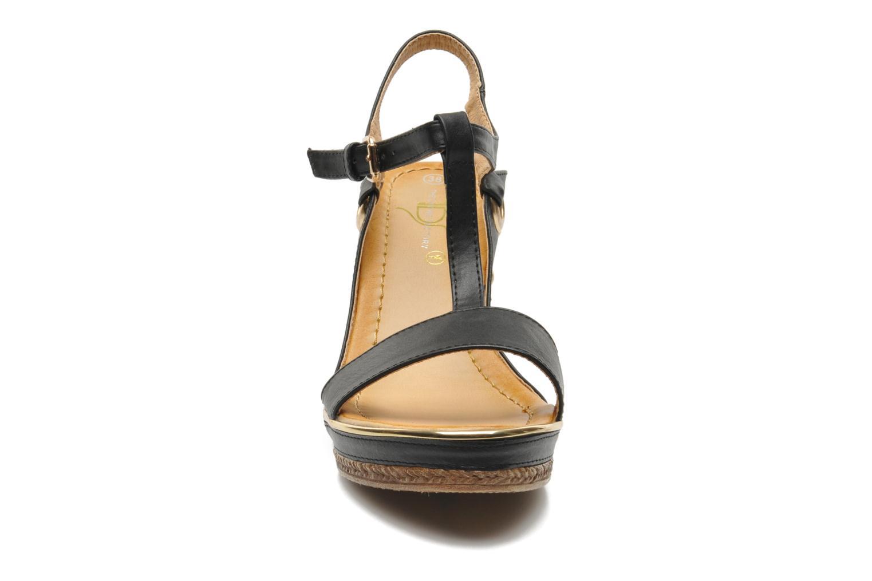 Sandales et nu-pieds Divine Factory Acamar Noir vue portées chaussures