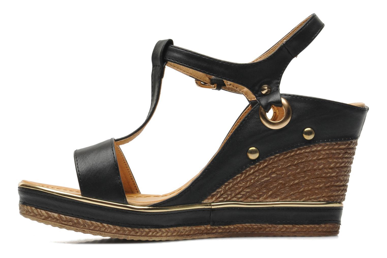 Sandales et nu-pieds Divine Factory Acamar Noir vue face