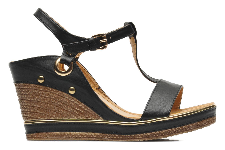 Sandales et nu-pieds Divine Factory Acamar Noir vue derrière