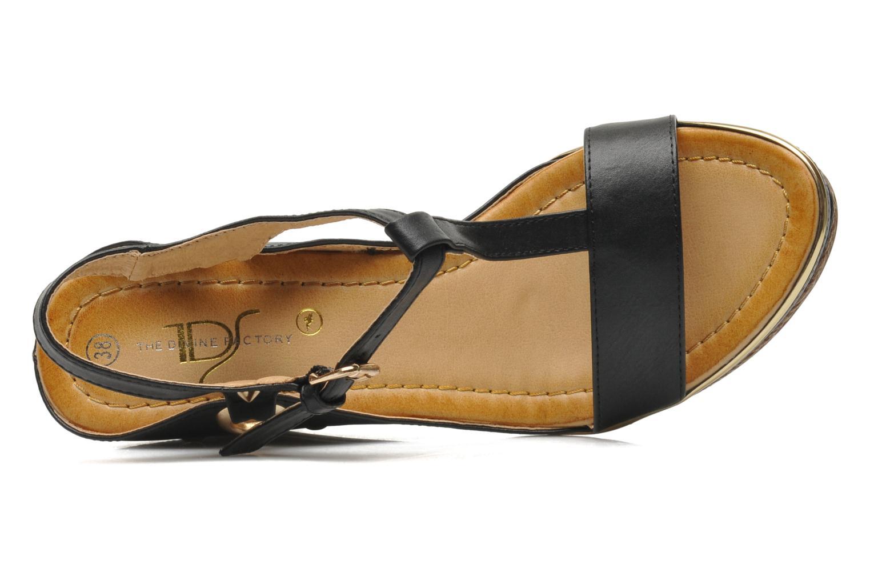 Sandales et nu-pieds Divine Factory Acamar Noir vue gauche