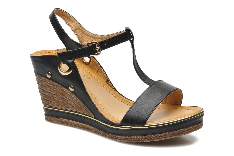 Sandals Divine Factory Acamar Black detailed view/ Pair view