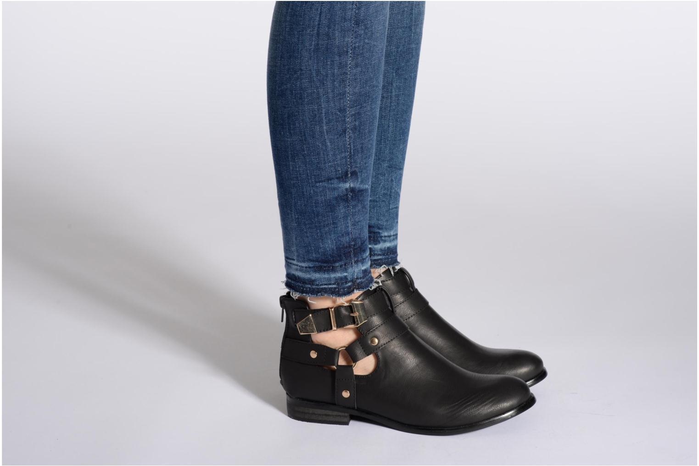 Bottines et boots Divine Factory Akruks Noir vue bas / vue portée sac