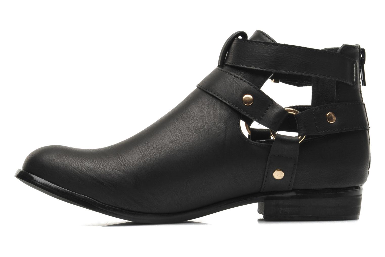 Bottines et boots Divine Factory Akruks Noir vue face