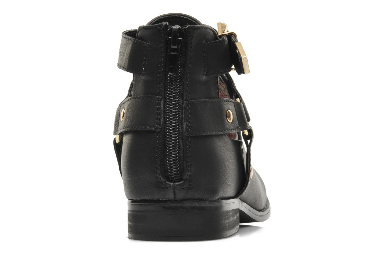 Bottines et boots Divine Factory Akruks Noir vue droite