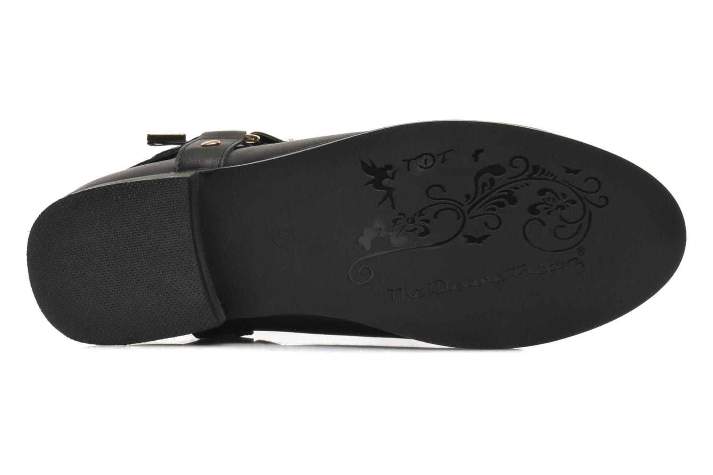Bottines et boots Divine Factory Akruks Noir vue haut