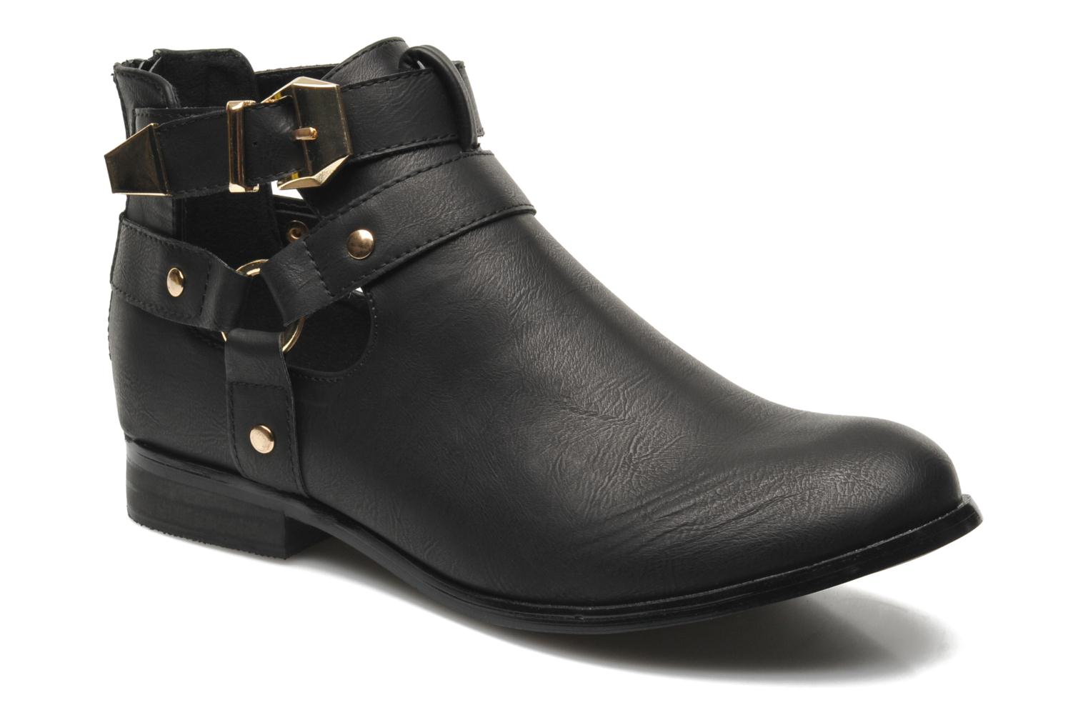 Ankle boots Divine Factory Akruks Black detailed view/ Pair view