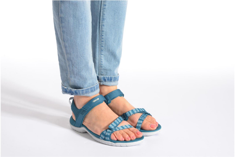 Chaussures de sport Teva Verra W Bleu vue bas / vue portée sac