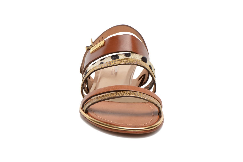Sandales et nu-pieds Les Tropéziennes par M Belarbi Brune Multicolore vue portées chaussures