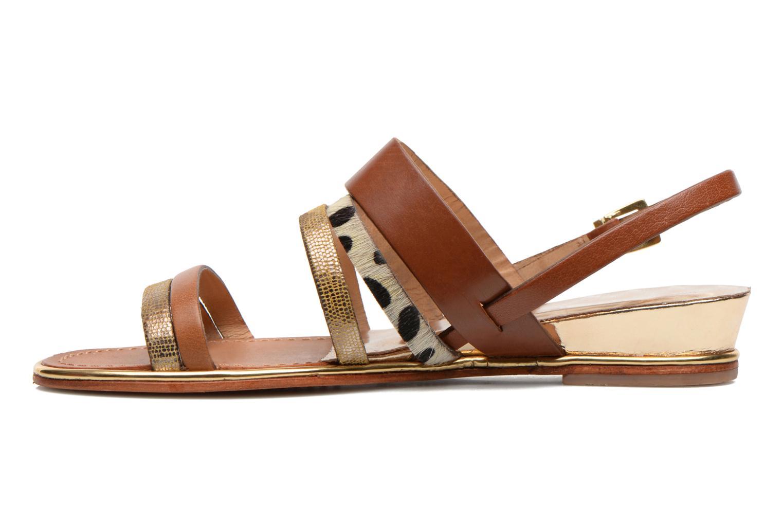 Sandales et nu-pieds Les Tropéziennes par M Belarbi Brune Multicolore vue face