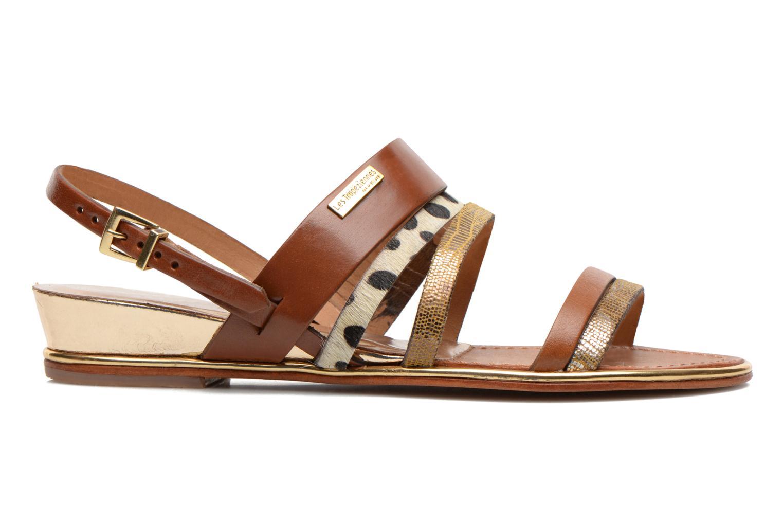 Sandales et nu-pieds Les Tropéziennes par M Belarbi Brune Multicolore vue derrière