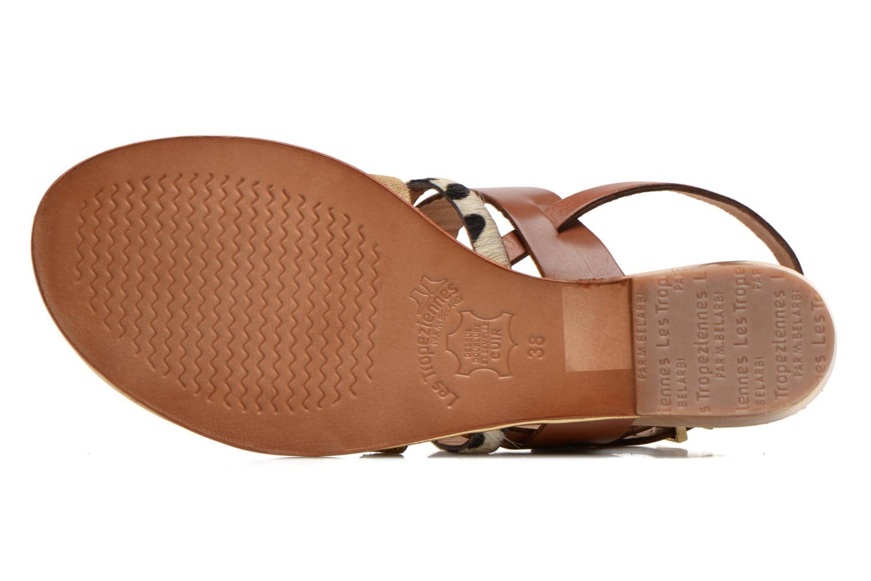 Sandales et nu-pieds Les Tropéziennes par M Belarbi Brune Multicolore vue haut