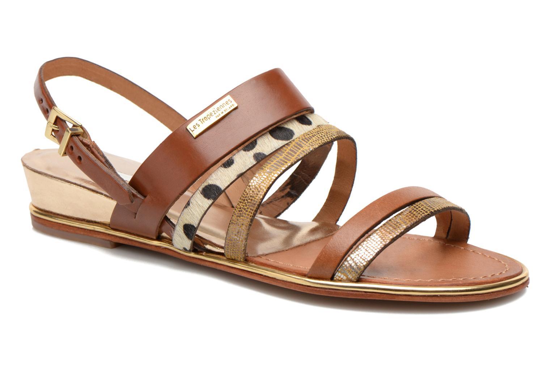Sandales et nu-pieds Les Tropéziennes par M Belarbi Brune Multicolore vue détail/paire
