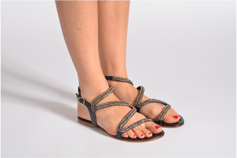 Sandales et nu-pieds Les Tropéziennes par M Belarbi Jolane Noir vue bas / vue portée sac